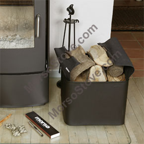 ** Firewood Box w/logo inc Canvas Carrier